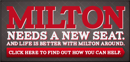 Milton needs a new set of wheels. And life is better with Milton around. Click here to see how you can help.